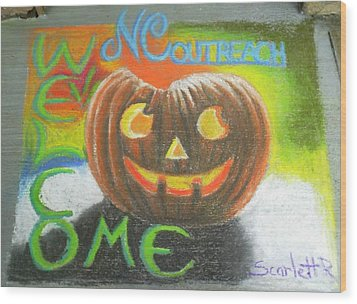 Halloween Ncohc Welcome Wood Print by Scarlett Royal