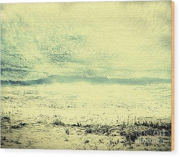 Hallucination On A Beach Wood Print