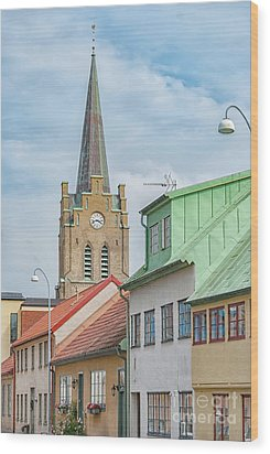 Wood Print featuring the photograph Halmstad Street Scene by Antony McAulay