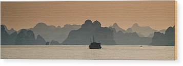 Halong Bay Wood Print by Peter Verdnik