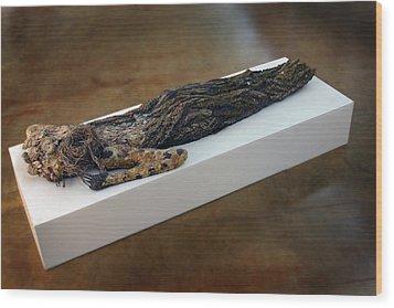 Hamadryad A Sculpture By Adam Long Wood Print by Adam Long
