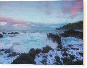 Wood Print featuring the photograph Hamakua Sunset by Ryan Manuel