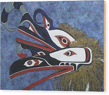 Hamatsa Masks Wood Print by Elaine Booth-Kallweit