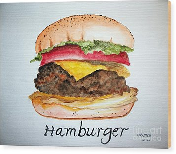 Hamburger 1 Wood Print by Carol Grimes