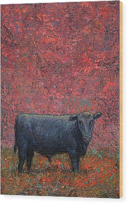 Hamburger Sky Wood Print by James W Johnson
