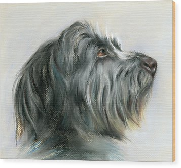 Hamish The Wolfhound Wood Print by MM Anderson