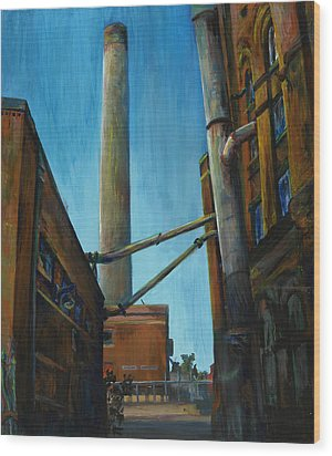 Hamm Brewery Wood Print by Grace Hasbargen