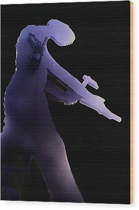 Hammering Man 2 Wood Print by Tim Allen