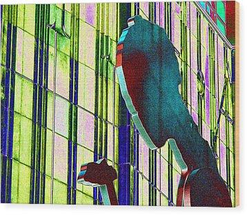Hammering Man 3 Wood Print by Tim Allen