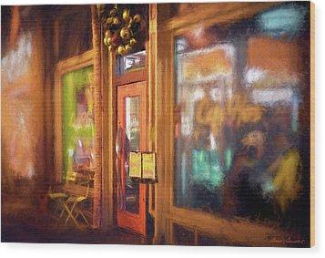 Hampden Cafe Wood Print
