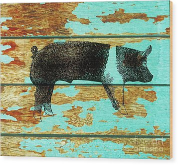 Hampshire Boar 1 Wood Print