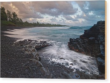 Wood Print featuring the photograph Maui - Hana Bay by Francesco Emanuele Carucci