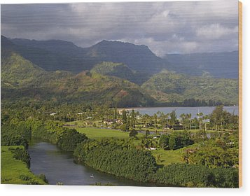 Hanalei Bay Morning Wood Print