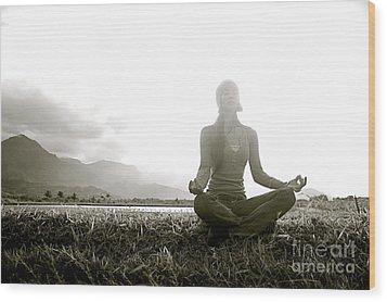 Hanalei Meditation Wood Print by Kicka Witte - Printscapes