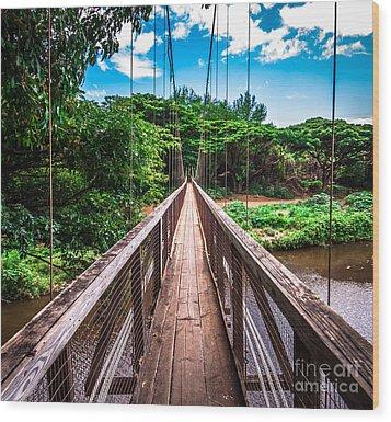 Hanapepe Bridge Wood Print