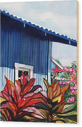 Wood Print featuring the painting Hanapepe Town by Marionette Taboniar