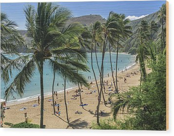 Wood Print featuring the photograph Hanauma Bay by Steven Sparks