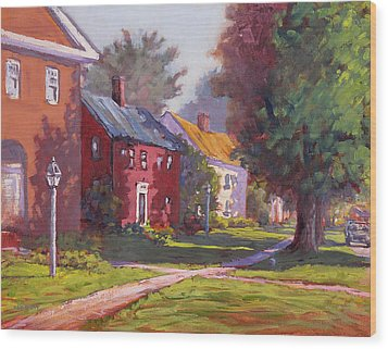 Hancock Village Scene Wood Print