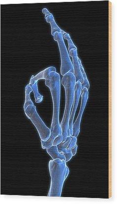 Hand Gesture Wood Print by MedicalRF.com
