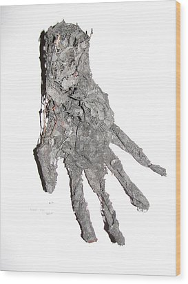 Hand Wood Print by Kyle Ethan Fischer