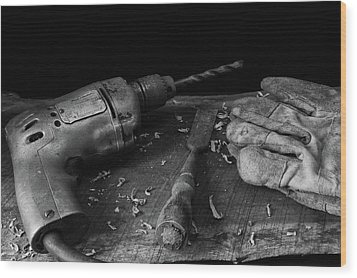 Hand Tools 3 Wood Print by Richard Rizzo