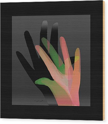 Hands In Pair Wood Print by Asok Mukhopadhyay