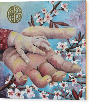 Hands Of Love Wood Print by Renee Thompson