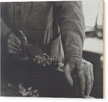 Hands Of Shaker Brother Ricardo Belden Wood Print by Everett