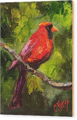 Handsome Red Wood Print by Carole Foret