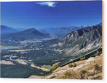 Hang Gliders Point Of View Wood Print