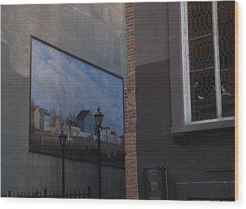 Hanging Art In N Y C  Wood Print by Rob Hans
