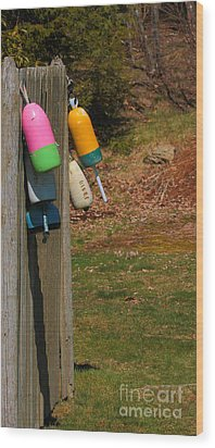 Wood Print featuring the photograph Hanging Buoys by Debbie Stahre