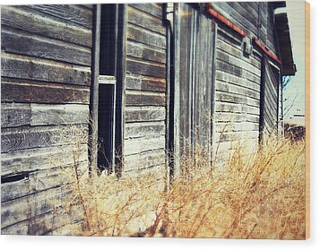 Wood Print featuring the photograph Hanging By A Bolt by Julie Hamilton