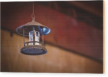 Wood Print featuring the photograph Hanging Lantern by April Reppucci