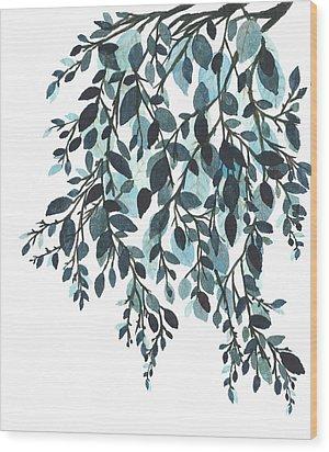 Hanging Leaves II Wood Print by Garima Srivastava