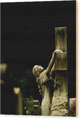 Hanging On Wood Print by John Conrad Johnson III