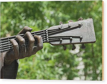 Hank Williams Hand And Guitar Wood Print