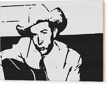 Hank Williams Wood Print by Jeff DOttavio