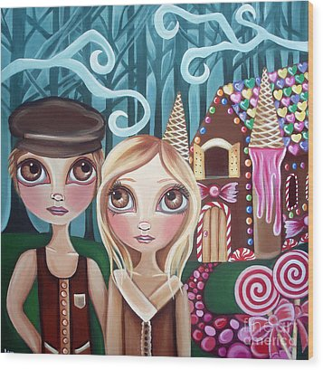 Hansel And Gretel Wood Print by Jaz Higgins
