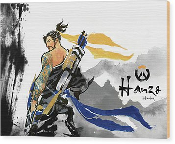 Hanzo Overwatch Wood Print by Haze Long