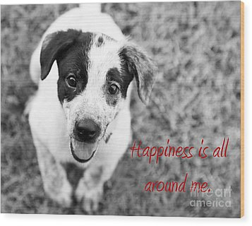 Happiness Is All Around Me Wood Print by Amanda Barcon