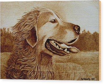 Happiness Wood Print by Jo Schwartz