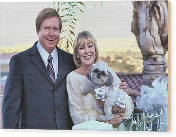 Wood Print featuring the photograph Happy Anniversary Ron And Barb by Kathy Tarochione