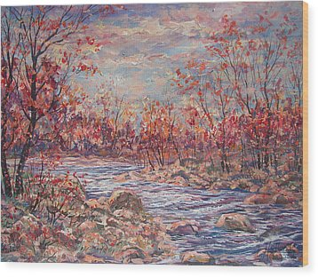 Happy Autumn Days. Wood Print