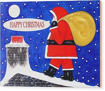 Happy Christmas 12 Wood Print by Patrick J Murphy