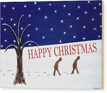 Happy Christmas 15 Wood Print by Patrick J Murphy