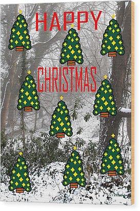 Happy Christmas 22 Wood Print by Patrick J Murphy