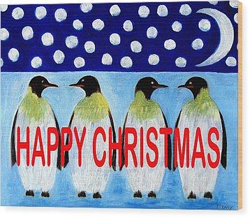 Happy Christmas 24 Wood Print by Patrick J Murphy