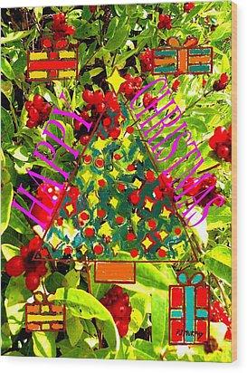 Happy Christmas 25 Wood Print by Patrick J Murphy