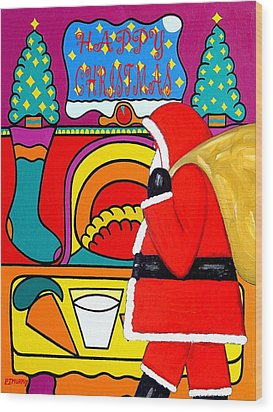 Happy Christmas 30 Wood Print by Patrick J Murphy